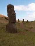 道路穿过Moai 库存照片
