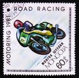 道路赛车,开汽车的serie,大约1981年 库存图片