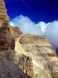 道路Brenta白云岩山的阿尔弗雷德Benini在意大利 免版税图库摄影