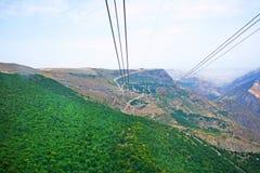 从索道高度的风景视图 免版税库存图片