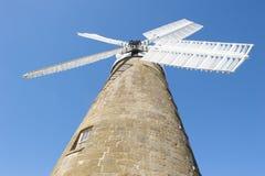 遗产在Oatlands,塔斯马尼亚岛的面粉风车 免版税库存图片