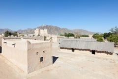 遗产村庄在富查伊拉 库存照片