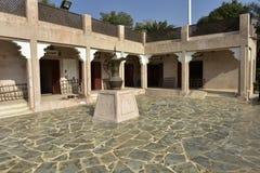 遗产村庄,手工造Souk,阿布扎比,阿拉伯联合酋长国 免版税库存照片