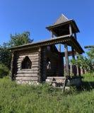 遗产村庄,老木屋 图库摄影