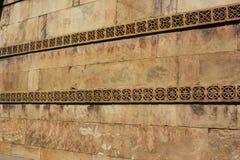 遗产石雕刻的墙壁, dada harir,艾哈迈达巴德,印度 图库摄影