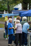 遗产节日的年长妇女 免版税图库摄影