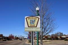 遗产足迹,巴特菲尔德足迹,西部孟菲斯,阿肯色 免版税库存照片