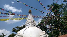 遗产边Stupa 库存图片