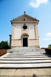 遗产建筑学在意大利欧洲米兰阳光下 库存图片