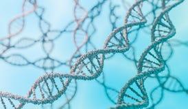 遗传学概念 3D回报了脱氧核糖核酸分子的例证 向量例证