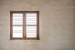 遗弃内部的窗口 库存图片