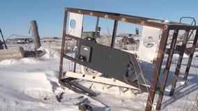 遗骸在前军事镇毁坏了一个火车站 股票录像