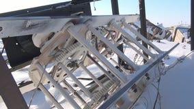 遗骸在前军事镇毁坏了一个火车站 影视素材