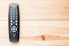遥控为在电视机的交换的渠道 图库摄影
