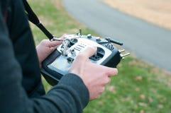 遥控为模型飞机 免版税库存照片