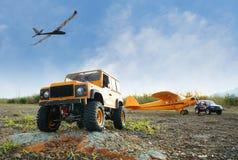 遥控卡车、飞机和滑翔机 免版税图库摄影