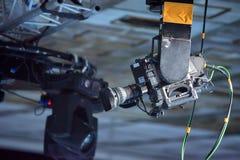 遥控照相机在演播室 免版税库存照片