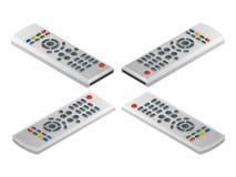 遥控电视 平的3d传染媒介等量例证 免版税库存图片