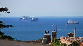 遥远的容器货船在海怀有 股票录像