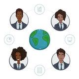 遥远的工作者队企业项目的 向量例证