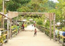 遥远的村庄 库存照片