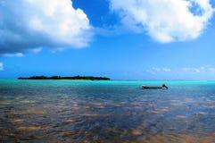 遥远的海岛 库存图片