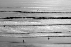 遥远的海浪 免版税库存图片