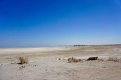 遥远的海滩-索尔顿湖 免版税库存照片