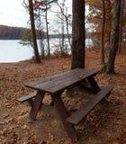 遥远的野餐桌 免版税图库摄影