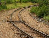 遥远的铁路Traintrack 免版税库存图片