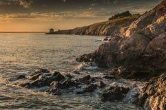 遥远的Martello塔 免版税库存图片