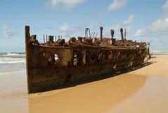 遭到海难的海滩 图库摄影