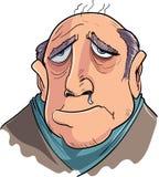 遭受流感的动画片人 免版税图库摄影