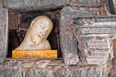 遭受的耶稣的胸象,宗教概念 免版税库存照片