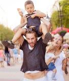 遭受的虔诚父母孩子 免版税库存照片