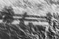 遮蔽反射起波纹的水 库存照片