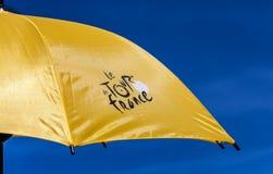 遮阳伞环法自行车赛 图库摄影