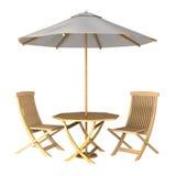 遮阳伞的例证 库存照片