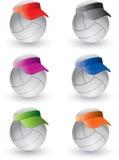 遮阳排球 向量例证