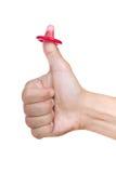 避孕套查出的略图白色 免版税库存图片