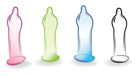 避孕套草图 向量例证