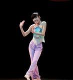 避开拒绝--中国民间舞 库存照片