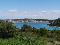 避暑别墅和公寓在克罗地亚 免版税库存照片