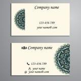 邀请、名片或者横幅与文本模板 圆的fl 免版税库存图片