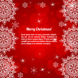 邀请与抽象雪花的圣诞卡 库存照片