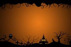 邀请卡片的万圣夜边界 免版税库存照片
