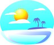 邀请另一边illumina的一个神奇热带海岛 免版税图库摄影