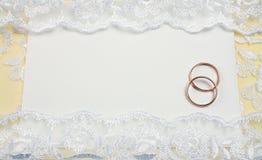 邀请婚礼 图库摄影