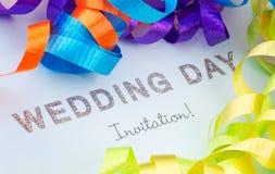 邀请婚礼 库存照片