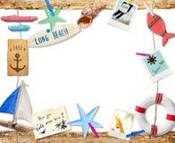 邀请对夏天海滩假日 免版税库存照片
